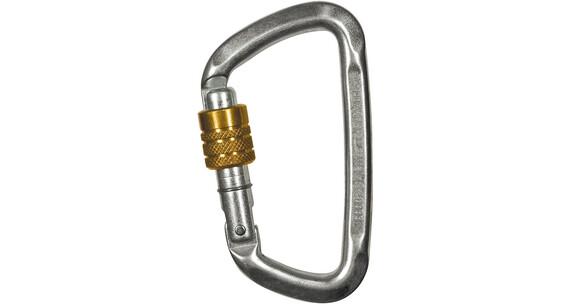 Climbing Technology D-Shape Steel SG Carabiner zinc plated steel